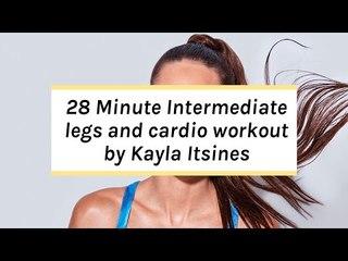 Kayla Itsines Intermediate Workout | No Kit Legs + Cardio Session