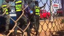 un thiantacoune escalade les barrières de l'Aibd