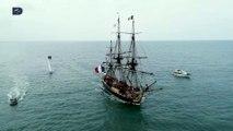 [Évènement]  La frégate Hermione Lafayette, star du port