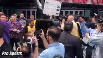 Los Angeles Lakers Fans PROTEST HELD In Front Of Staples Center 'FIRE RAMBIS' After Ty Lue Negotiations Fail
