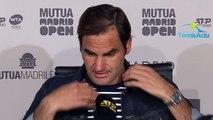 """ATP - Masters 1000 Madrid 2019 - Roger Federer : """"Je vais rentrer en Suisse pour décompresser, Je vais réfléchir pour Rome"""""""