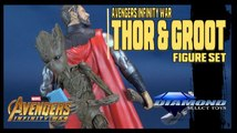 Avengers Infinity War Thor and Groot | Diamond Select Marvel Select Figure Set Review!