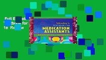 Full E-book  Mosby s Textbook for Medication Assistants, 1e  Review