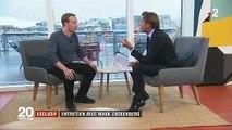 """Laurent Delahousse à Mark Zuckerberg: """"Grace à Facebook vous savez plus de choses sur moi que moi sur vous. Vous connaissez mes amis, mes goûts..."""""""