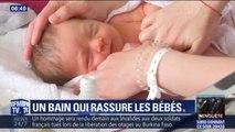 Pour rassurer les bébés, les hôpitaux de l'AP-HP transmettent la technique du bain enveloppé