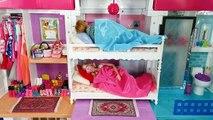 Barbie Ken Rapunzel Dream House Morning Routine for School باربي الصباح الروتين Barbie Beliche   Karla D.