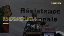 Bénin : conférence de presse du parti R.E : L'objet de la résistance selon Candide Azannaï