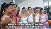 Inmates in Lima prison organise Mother's Day fashion show