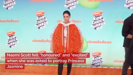 naomi scott talks about the moment she became princess jasmine