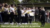 Dijon : les collégiens de Champollion ont chanté pour la commémoration de l'abolition de l'esclavage
