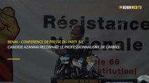 Bénin : Candide Azannaï reconnait le professionnalisme de l'armée