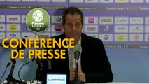 Conférence de presse Grenoble Foot 38 - AJ Auxerre (0-0) : Philippe  HINSCHBERGER (GF38) - Cédric DAURY (AJA) - 2018/2019