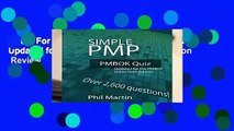 About For Books  Simple PMP PMBOK Quiz: Updated for the PMBOK Guide Sixth Edition  Review