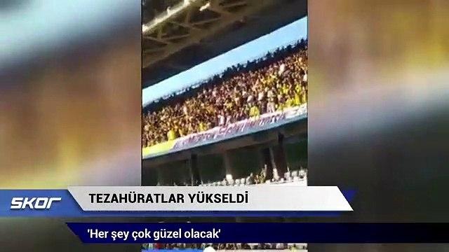 Fenerbahçe Akhisarspor maçında 'Her şey çok güzel olacak' tezahüratları