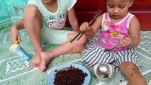 Bébé Beurre Défi d'Abord Manger des Nouilles Le coréen  Bébé Beurre TV  alimentaire pour les enfants