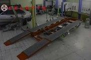 Car frame machine Rhone by Celette, car measuring system, car universal jig system, car frame ra