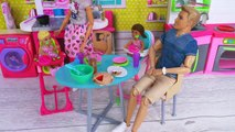 Barbie Girl Ken Bedtime Routine with Baby Dolls House Toys!