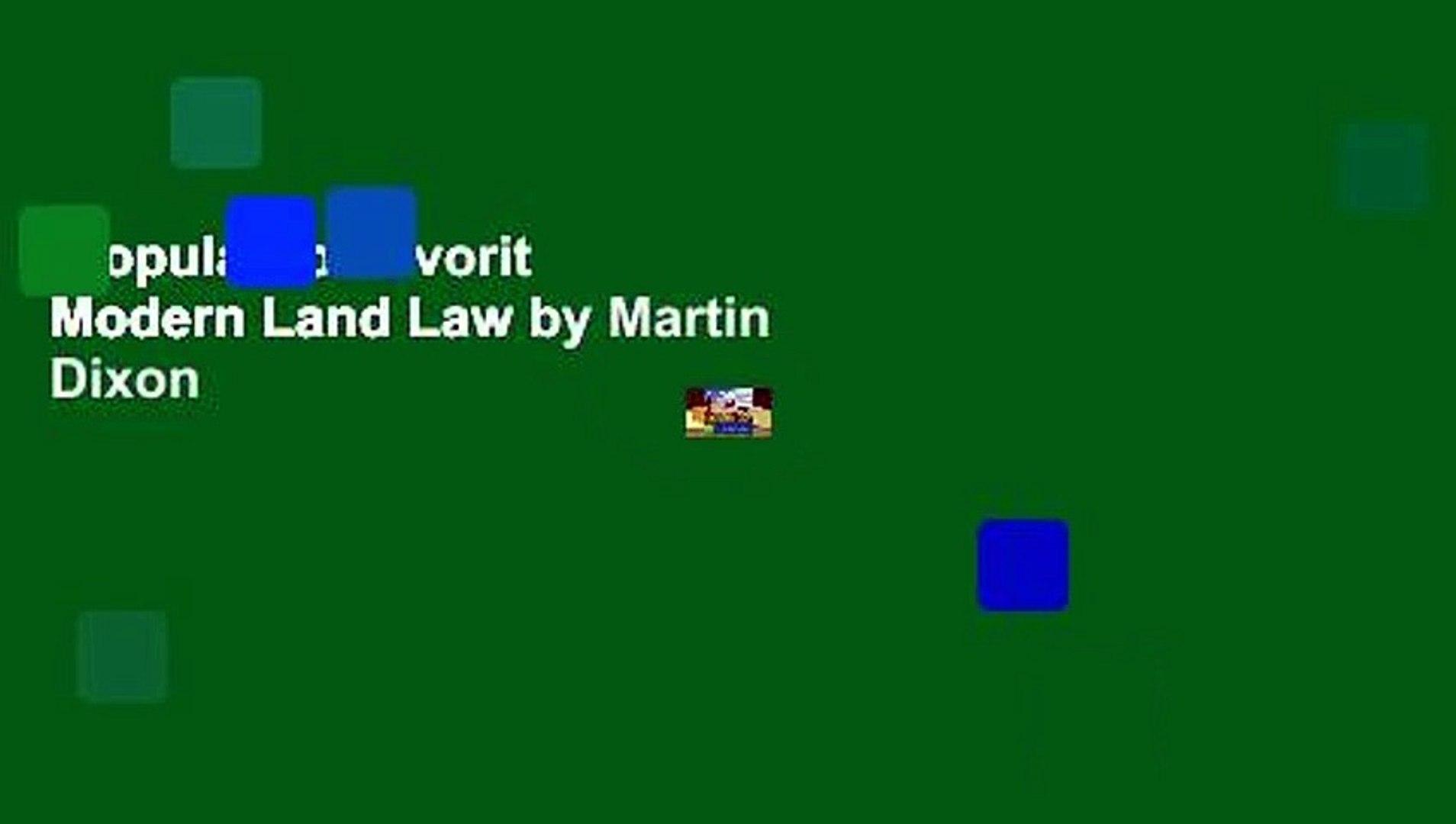 Modern Land Law
