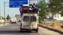Gaziantep'te tehlikeli yolculuk...Minibüsün üstünde yolculuk yapan 4 kişi korkuttu
