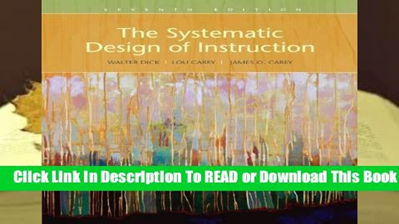Full E Book The Systematic Design Of Instruction For Online Video Dailymotion