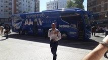 Valencia-Alavés: Llegada del Alavés a Mestalla