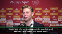 Ajax - De Jong : ''Tottenham ? La plaie est encore ouverte''