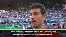 I needed to beat Tsitsipas - Djokovic