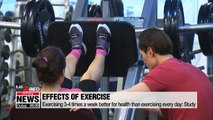 Daily sweaty exercise shows no preventive effect against illnesses