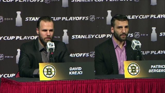 Patrice Bergeron On Tuukka Rask's Poise In The Playoffs