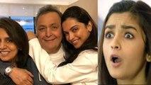 Alia Bhatt reacts Deepika Padukone's picture with Neetu Kapoor & Rishi Kapoor | FilmiBeat
