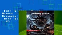 Full E-book  Monster Manual (Dungeons & Dragons, 5th Edition)  Best Sellers Rank : #3
