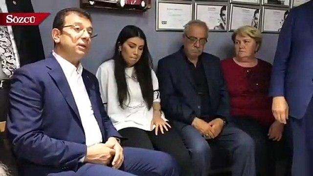 Ekrem İmamoğlu Erdoğan'ın bıçaklanan manevi kızını ziyaret etti