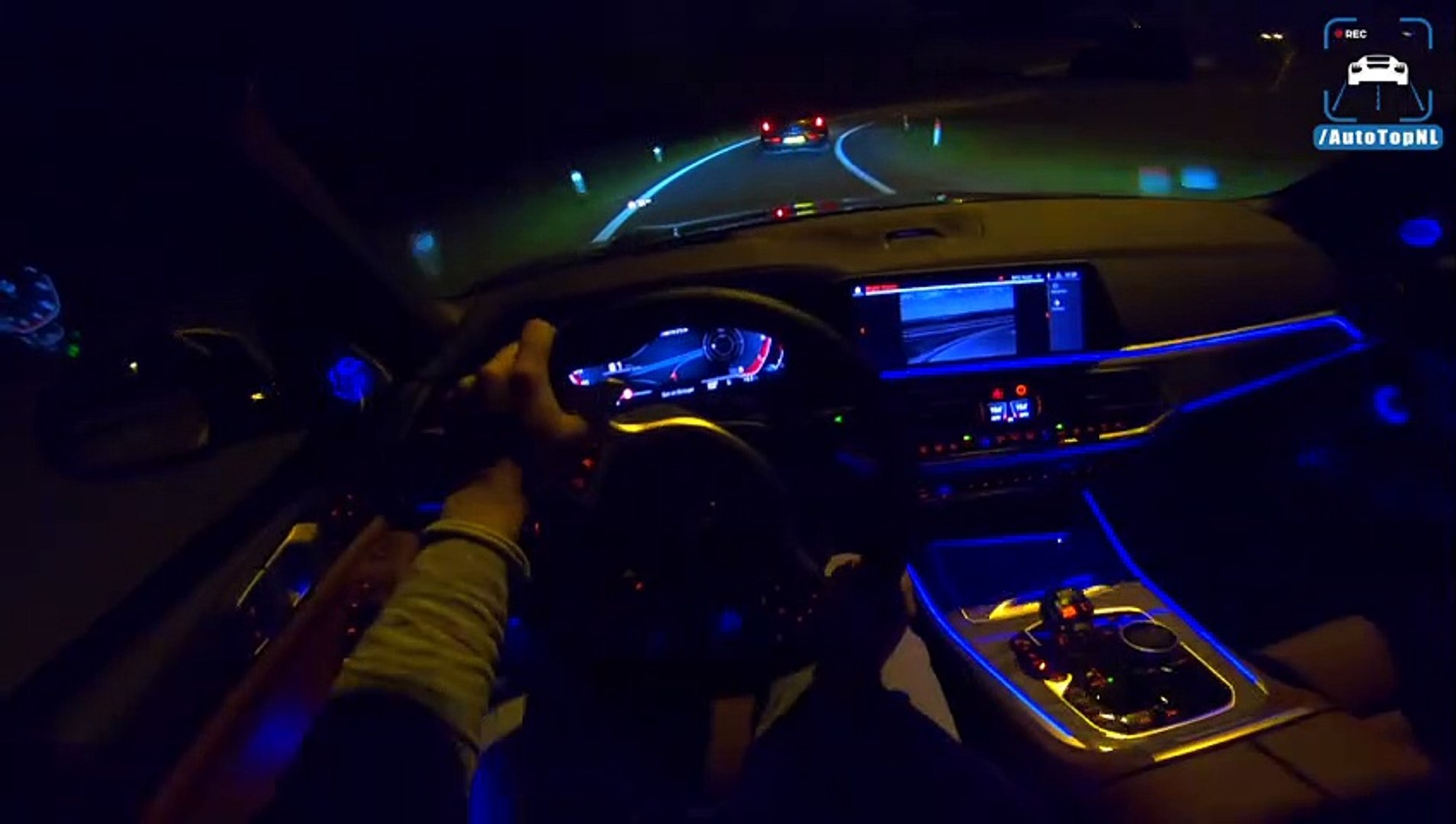 New Bmw X5 M50d G05 Night Drive Pov Ambient Lighting By Autotopnl Dailymotion Video