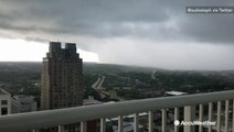 Watch as this storm moves through the city
