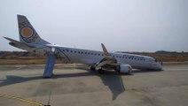 Birmanie : un pilote pose en urgence un avion sans train avant !