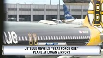 "Boston Bruins And JetBlue Unveil ""Bear Force One"" At Logan Airport"