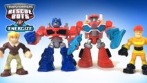 Transformers Rescue Bots Optimus Prime Cody Burns Heatwave Kade Burns || Keiths Toy Box