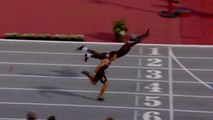 Infinite Tucker - goes full Superman to win 400m hurdles