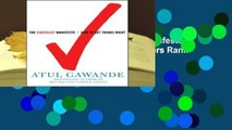 About For Books  The Checklist Manifesto: How to Get Things Right  Best Sellers Rank : #3