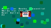 About For Books  Essential Words for the GRE  Best Sellers Rank : #2