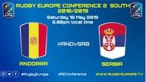 ANDORRA / SERBIA - RUGBY EUROPE CONFERENCE 2 SOUTH 2018 / 2019