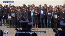 Emmanuel Macron salue les familles des militaires tués