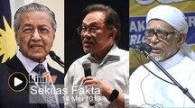 Dr M nafi dakwaan Cuepacs, Hadi ulas isu Takiyuddin kata Anwar bekas banduan