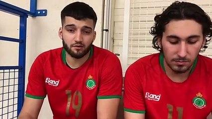 Handbal   Interviews : Icham Frid et Mehdi Fougani (Maroc)