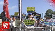 Protesters in Hong Kong rally against law allowing extraditions to China
