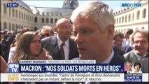 """Laurent Wauquiez revient sur les """"moments bouleversants"""" de la cérémonie d'hommage aux soldats tués"""