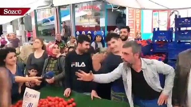 Ekrem İmamoğlu  Şirinevler semt pazarında vatandaşlarla buluştu