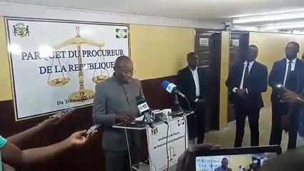 Déclaration de presse du procureur sur la disparition des 353 contenaires
