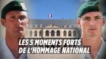Hommage national : les 5 moments forts de la cérémonie