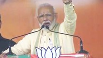 PM Narendra Modi gets emotional during his speech in Bihar's Buxar | Oneindia News